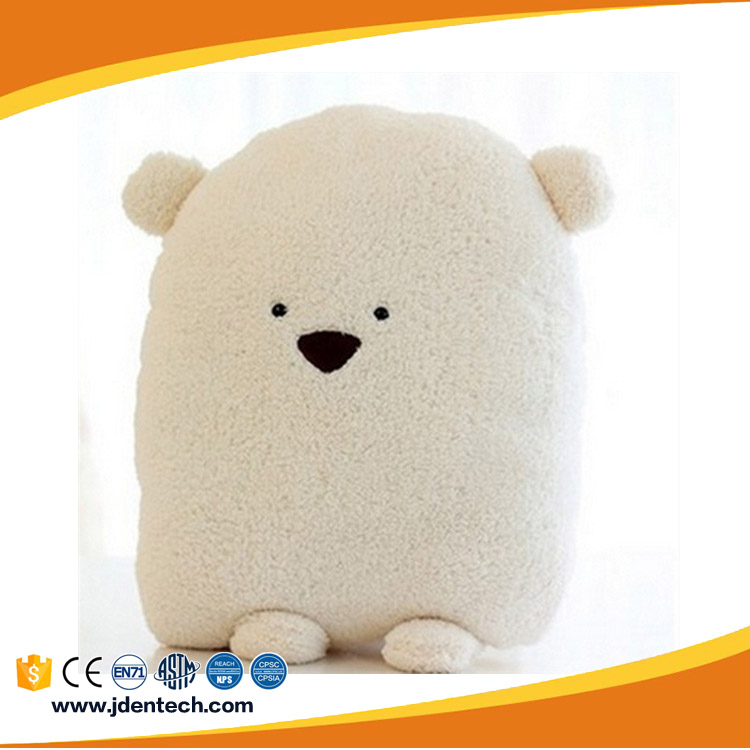 wholesale cotton insertable pillow bear face stuffed toys for warming hands