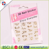 New Fashion 3d Gold Silver Nail Art Stickers Decals Hot Stamping Flower Nail Tips Decorating Tools