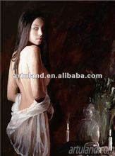 nude woman painting by photo