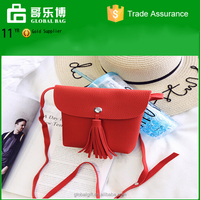 2016 new shoulder tassel bag Inclined Bag small mobile phone bag