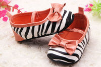 zebra pattern print baby girl shoes, infant girl shoes