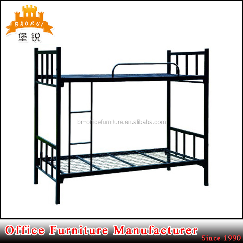 Factory directly sale steel double decker beds design furniture metal dormitory bed frame