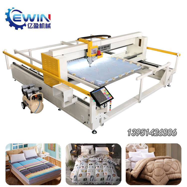 Fully Functional Small Dimension Single-Head Quilting Machine