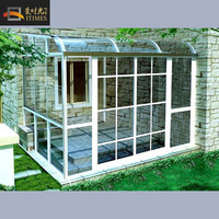 Insulated Glass Small Size Garden House Outdoor Glass House Sun Room