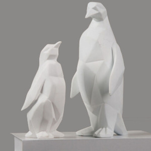Decorative resin penguin arts crafts statues