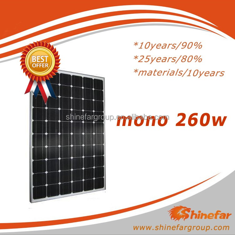 solar hot water with mono 260Wp
