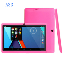 Precio al por mayor de 7 pulgadas android tablet fabricación tablet pc Q88 A33 quad core con Flash Android 4.4 WiFi