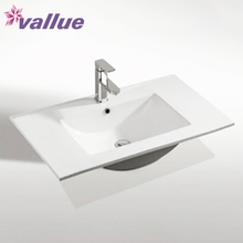 Best sellers pure white single hole rectangle porcelain thin sanitary cabinet sink mini wash basin ceramic lavabo