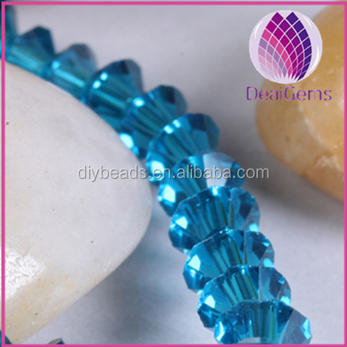 bicone 4*6mm blue crystal beads for jewelry making