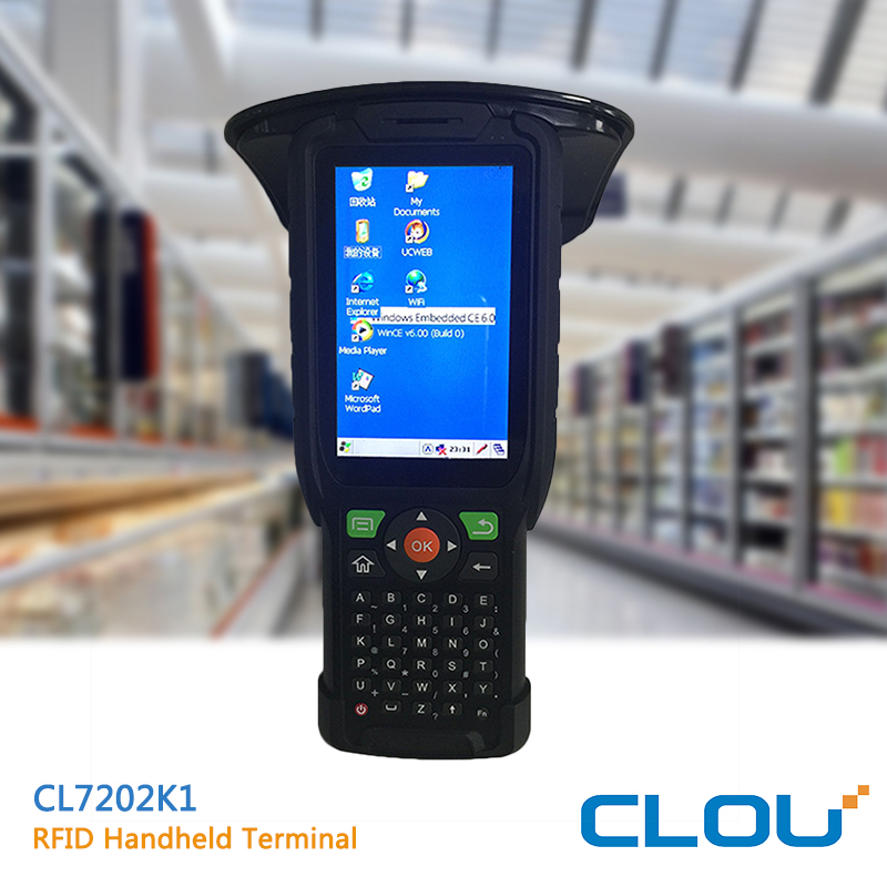 CLOU WINCE 6.0 PDA with UHF R2000 RFID reader and barcode reader
