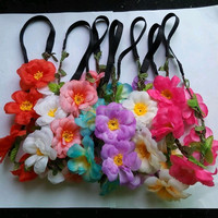 Women Elastic Headband Girl Hair Accessories Flower Garland LP120