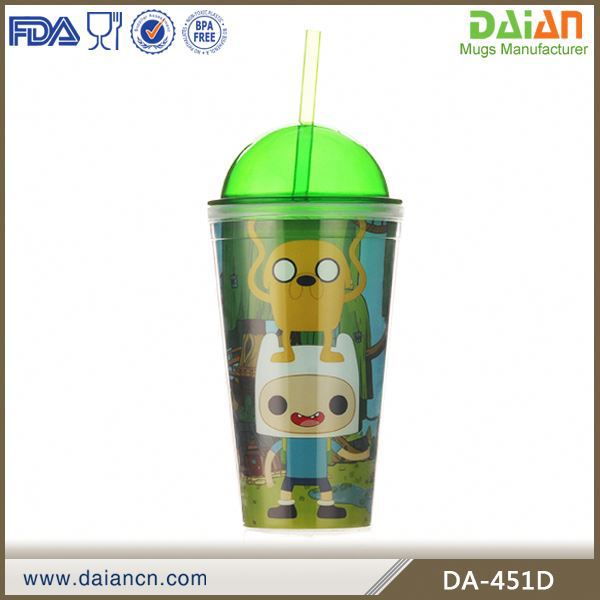 plastic parfait cups with straw