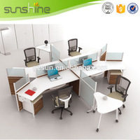 China Supply Classical Commercial Furniture Modular Office Cubicle Workstation, Standard Size Office Wall Partition WP24