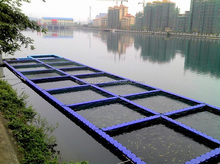 no sharp corners fishing cage floating