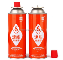 Round Shape Portable butane gas cartridge and butane gas canister