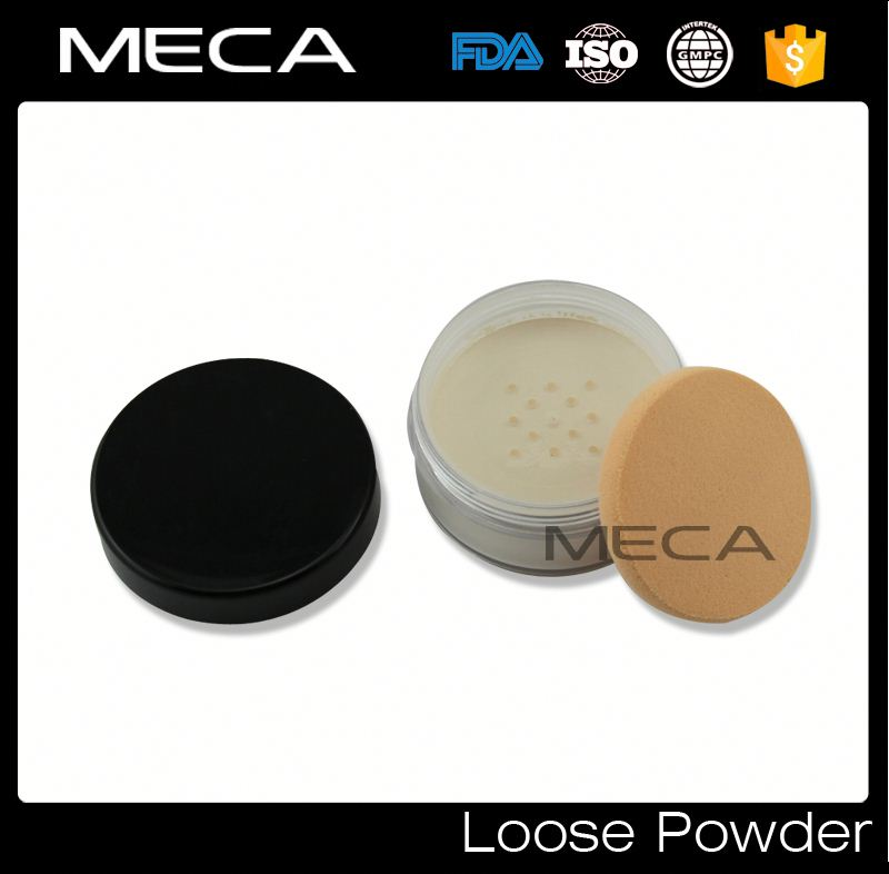 bulk foundation No Logo makeup kit powder puff with loose powder