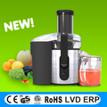 New design automatic juicer, big mouth whole fruit juicer with stainless steel housing