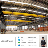 Factory Workshop Warehouse Use Heavy Cargo Lifting 10 ton Single One Beam Girder Bridge Overhead Travelling Crane EOT Crane OHC