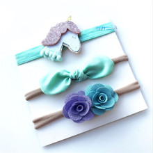 3Pcs Baby Toddler Kids Unicorn Flower Bow Headband