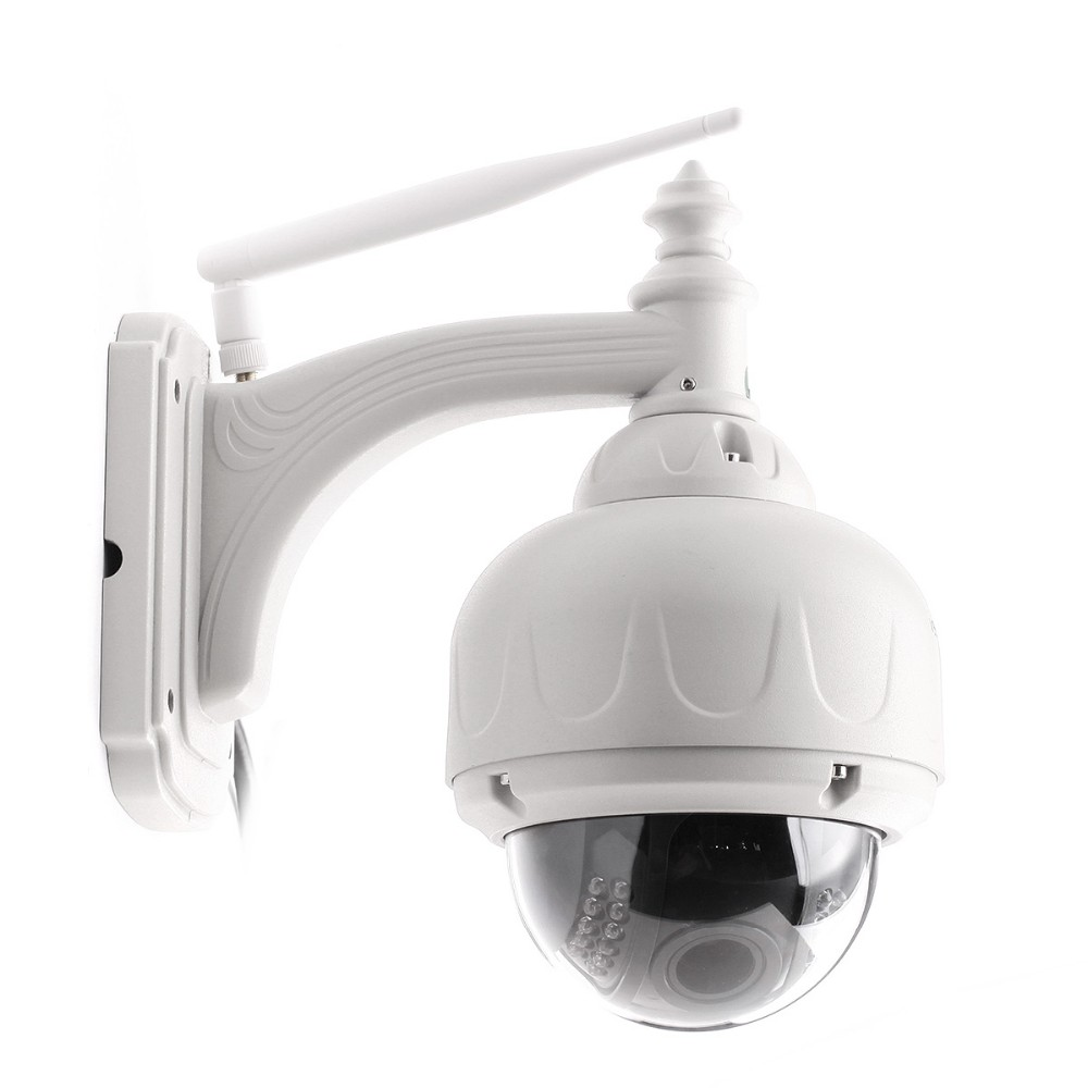 Outdoor Wireless Pan/Tilt IP Camera with IR-Cut Off Filter for Built-in 8GB TF Card, Max with 64GB.