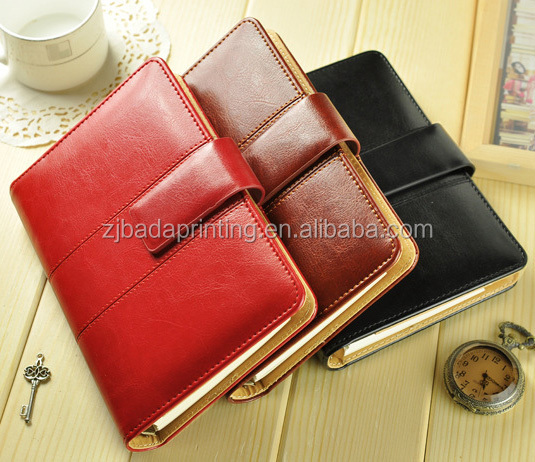 High Quality PU Cover Notebook With Nice Stitch/Custom Paper Notebook