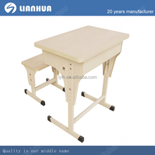 Modern Double MDF ergonomic student desk and chair set,double school furniture
