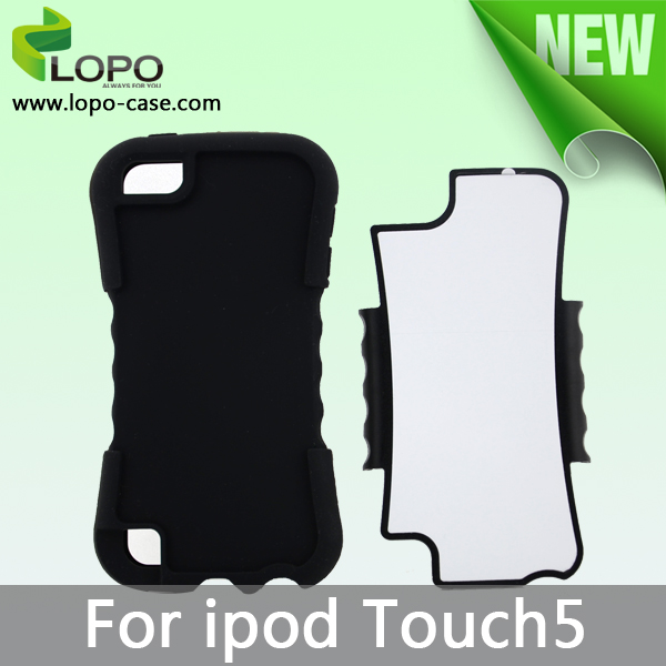 Blank Sublimation Phone Cover Case For ipod touch 5 (2 in 1 design)