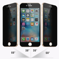 Full Screen Cover !! 0.33mm 9H Hardness Real AGC privacy tempered glass screen protector for iPhone 6s