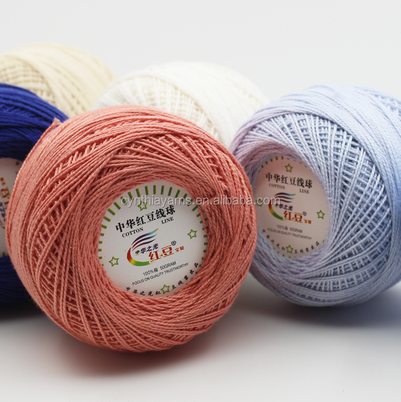 Cotton Yarn Multi Color Lace Yarn For Knitting Shawls