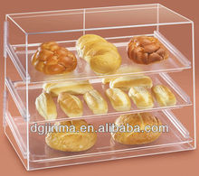 high quality clear acrylic display for bread display cabinet,arrival clamshell food containers