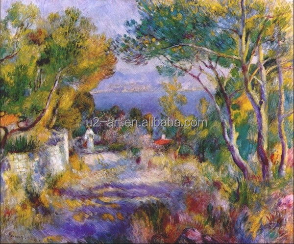 The estaque by Pierre-Auguste Renoir natural scenery painting