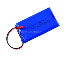 Li-polymer rechargeable lithium ion battery 605085 3.7V 3000mAh with PCM and JST connector
