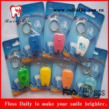 20meters Waxed and Mint Tooth Shape Dental Floss for promo-gift