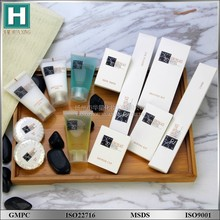 New design hotel toiletries product/disposable customized hotel amenities supplier
