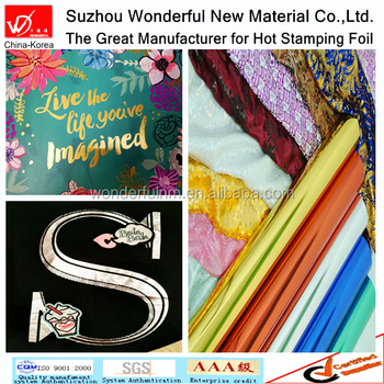 Gold and Silver color Hot stamping foil for textile