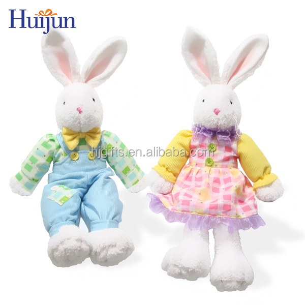 2017 New design easter rabbit doll kids festive gift plush toy custom