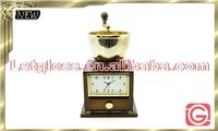 New design zinc alloy Coffee grinder shaped creative clock