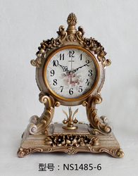 2016 Classic antique table clock customize table clock quartz desk clock