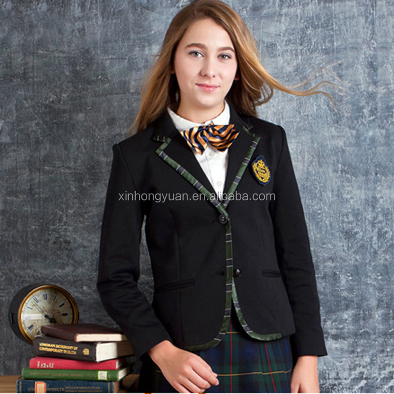 custom fashion English style school formal suits blazer uniforms high quality