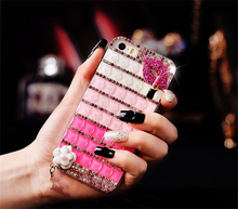 Special rhombus diamond cover case with lip shape for apple mobile phone for samsung