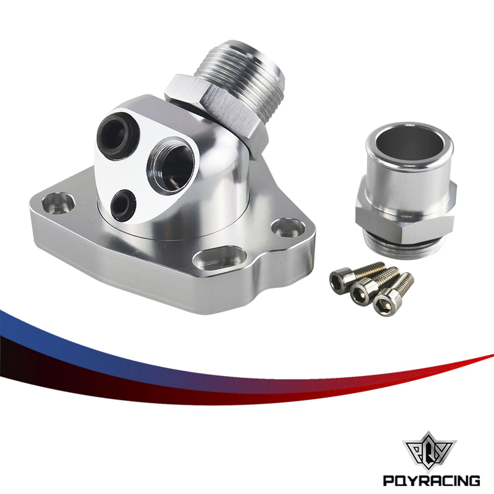 PQY RACING - Universal K20 K24 car engine cooling Components swivel neck Thermostat Housings PQY-CTT01