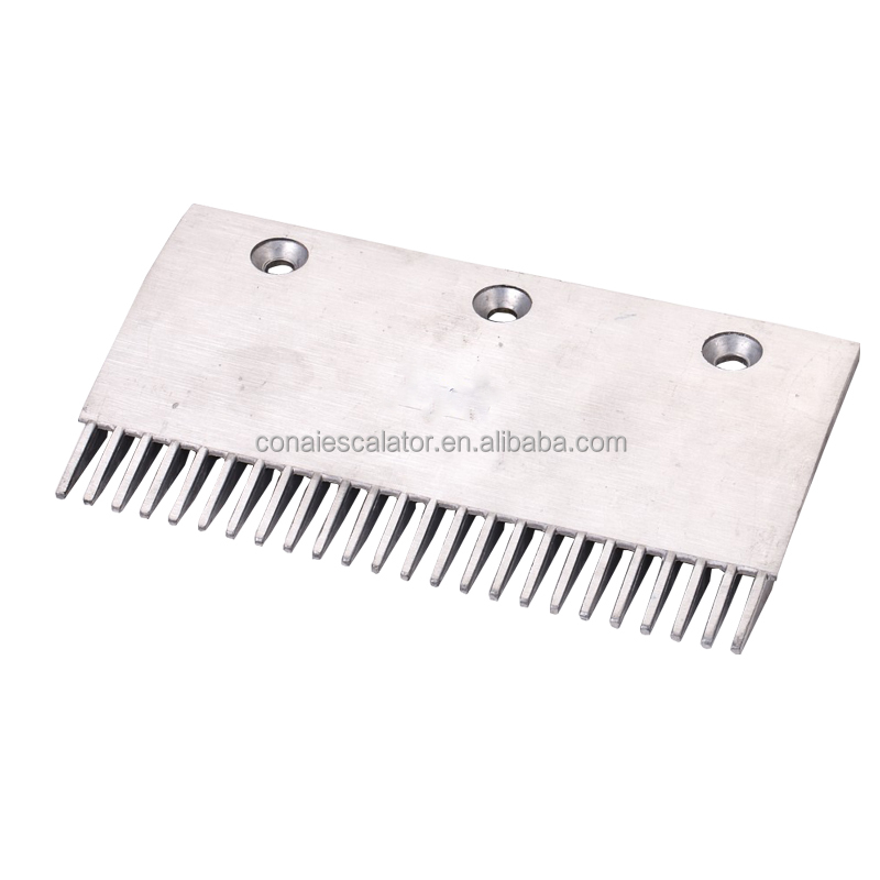 CNACP-005 Escalator comb plate - 204 mm Thyssen Aluminum comb plate price with 24 teeth and 3 holes
