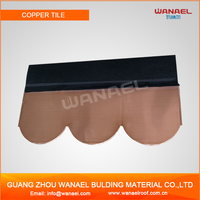Alibaba Supplier Wanael Fish Scale Asphalt Roof Shingles, Copper Colored Metal Roof