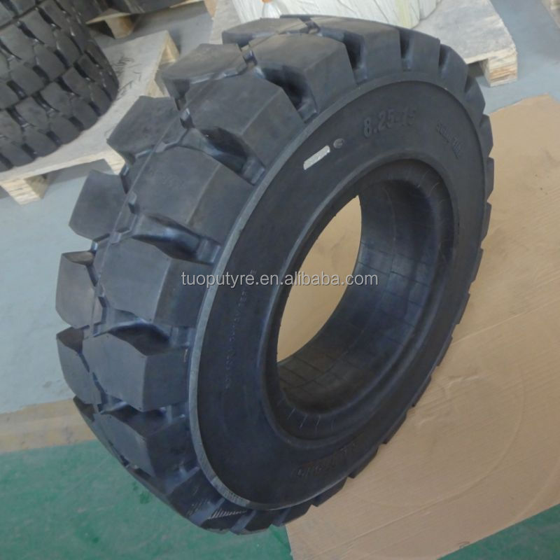 hot selling 8.25-12 solid soft rubber tyre forklift wheel and rim
