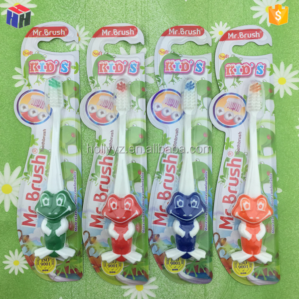 Home use oral care animal shape toothbrush for children