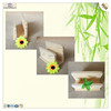 solid delicate decoration foam wooden card rack holder