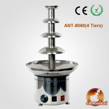 CHOCOLAZI ANT-8060 Auger 4 tiers stainless steel commercial chocolate fountain factory