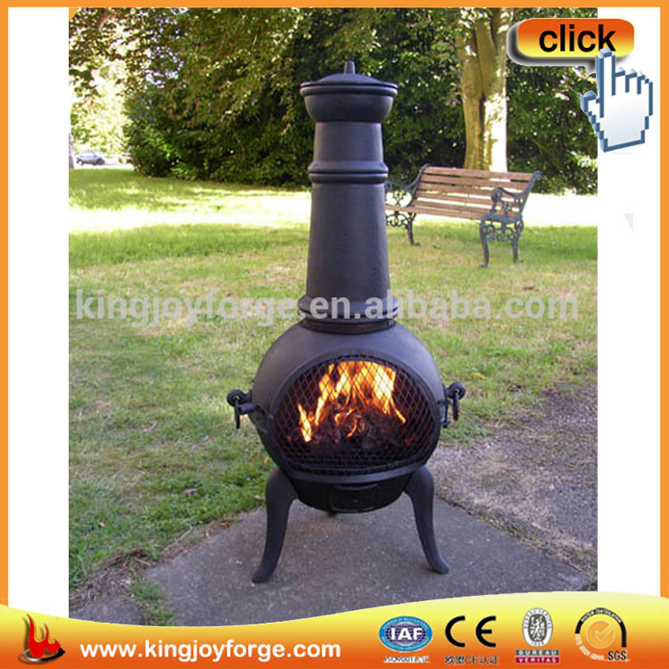 Casual Living Garden Wood Stove Grill Chiminea Crafted In Weaving Pattern