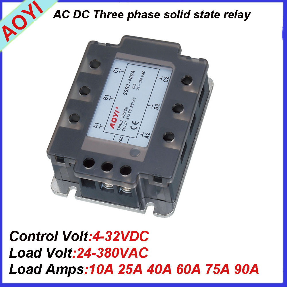CE approved 3-phase 380VAC 25A Solid-state electronics SSR3-25DA