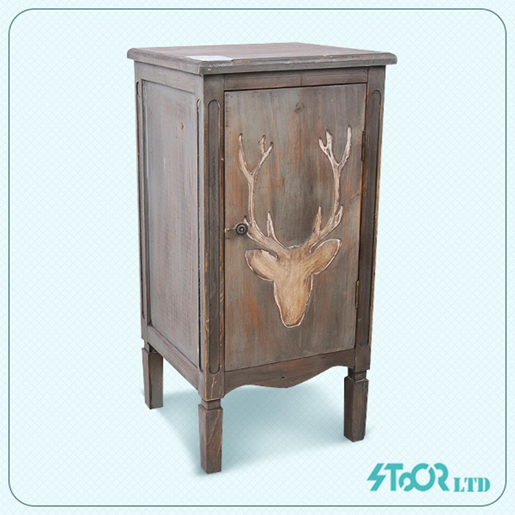 Retro Drawing Antique Furniture European Living Room Cabinet